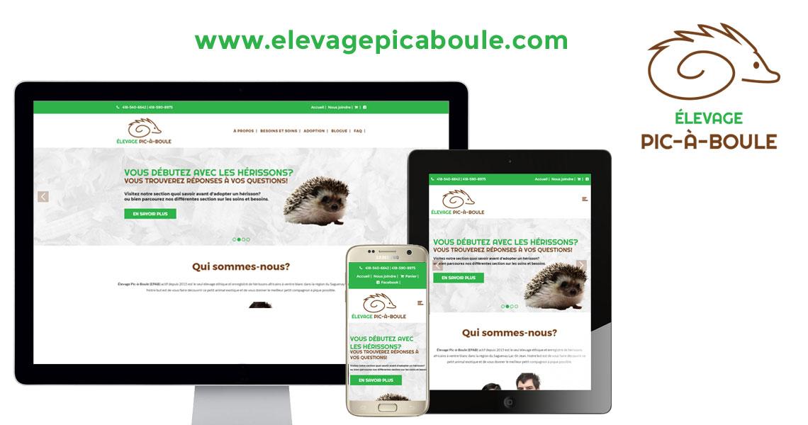 Site web élevage Pic-à-Boule